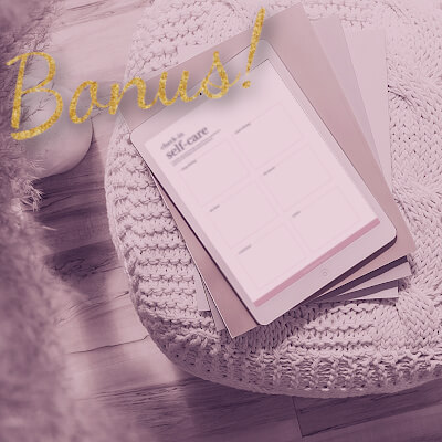 A preview of the bonus Daily Planning pages in The Abundance Planner